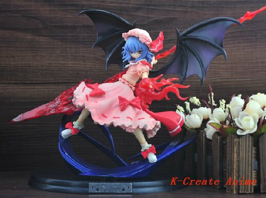 ФОТО  5 Touhou Project Remilia Scarlet with spear pvc figure toy tall 25cm via DHL EMS