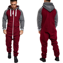 2019 Casual Tracksuit Jumpsuit Mens Overalls Long Sleeve Sweatshirts Hoodies Plus size 3xl Long Pants Romper Male Overalls цены