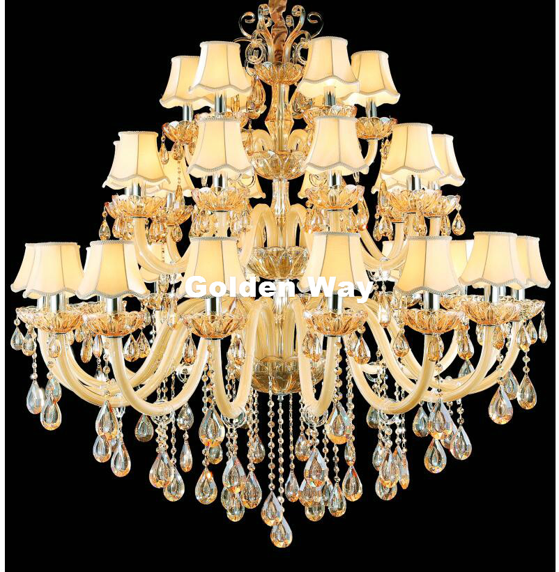Large Stair Hotel Luxury Crystal Chandelier Modern Champagne White LED K9 Lobby Hotel Lustres De Cristal Candle Chandelier Light цена 2017