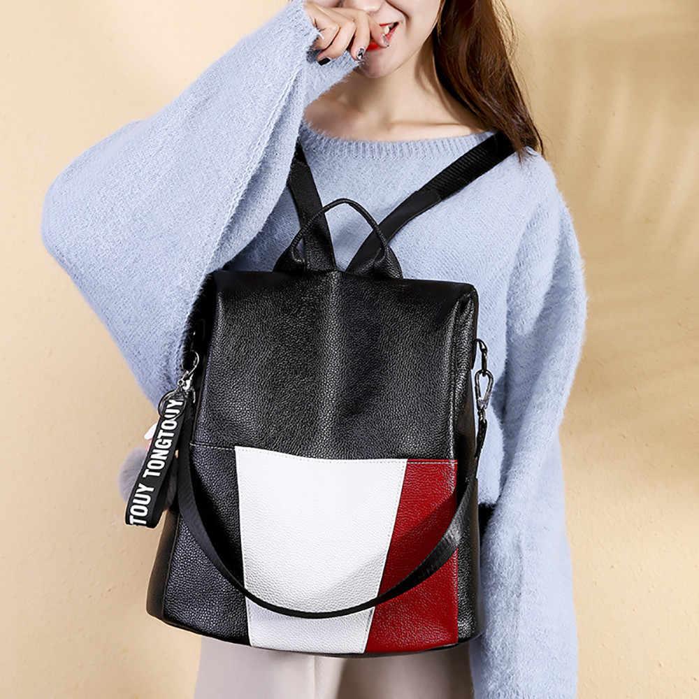 8512c4b738d2 Женский рюкзак Tide Wild большой емкости Противоугонный дорожный рюкзак  женский подростковый модный рюкзак для отдыха Повседневный