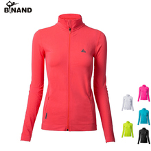BINAND Women Zipper Pocket Small 터틀넥 요가 Jacket Running 숨 연습을 피트니스 Gym 스포츠 긴-sleeved Coat(China)