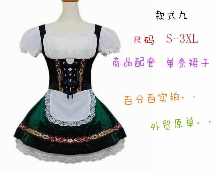 Halloween Baviera, Germania beer festival vestiti cameriera che serve cameriera COSPLAY film in costume