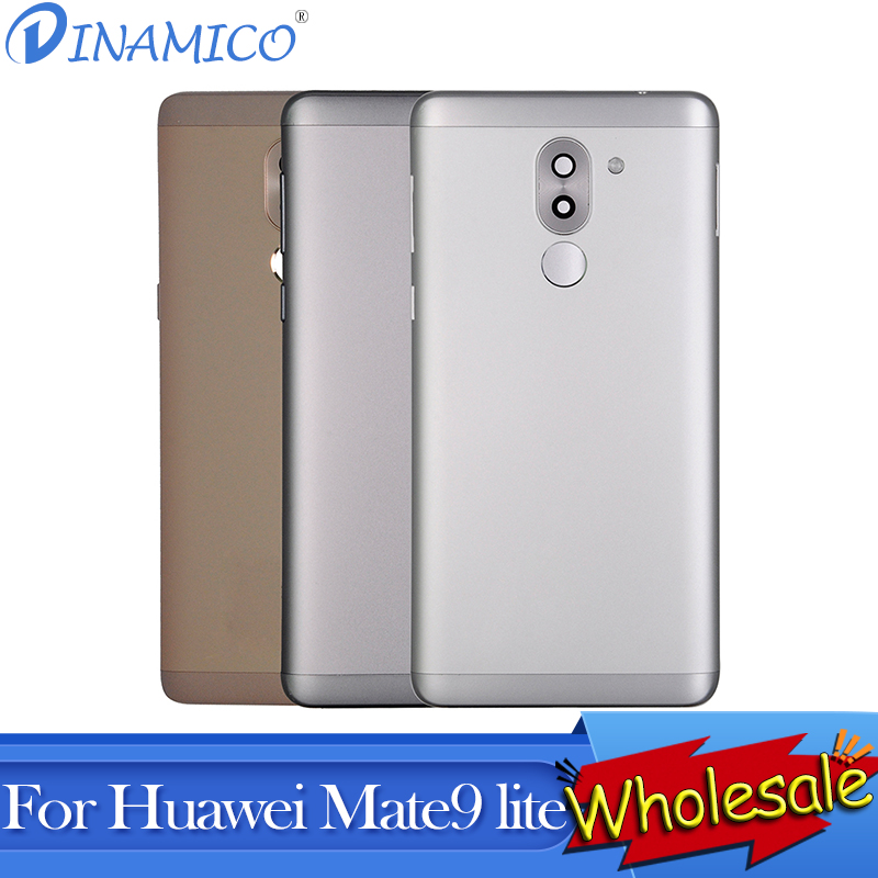 Dinamico For <font><b>Huawei</b></font> Mate 9 Lite Battery Back Cover Glass Panel Rear Cover Housing Door For Honor 6X <font><b>GR5</b></font> <font><b>2017</b></font> Back Cover 10Pcs image