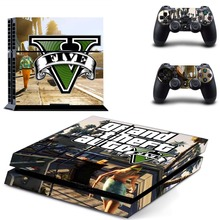 Grand Theft Auto V GTA 5 PS4 Skin Sticker Decal Vinyl for Sony Playstation 4 Console and Controller PS4 Skin Sticker