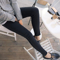 Plus Size Maternity Jeans Summer Cotton Skinny Denim Belly Trousers Pregnant Women Elastic Waist Pants