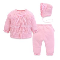 Newborn full moon female baby winter suit 0 1 year old female baby clothes princess red girl winter clothes baby girl clothes