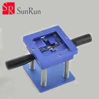 BGA Rework Reballing Station with Handle 90mm x 90mm Stencils Template Holder Jig IC quickly locate planting ball table