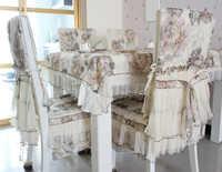 HBZ16 palazzo del fiore tovaglia copertura di tabella Del Merletto Del panno pastorale floreale del tessuto rettangolo squre oro giallo trafitto garza