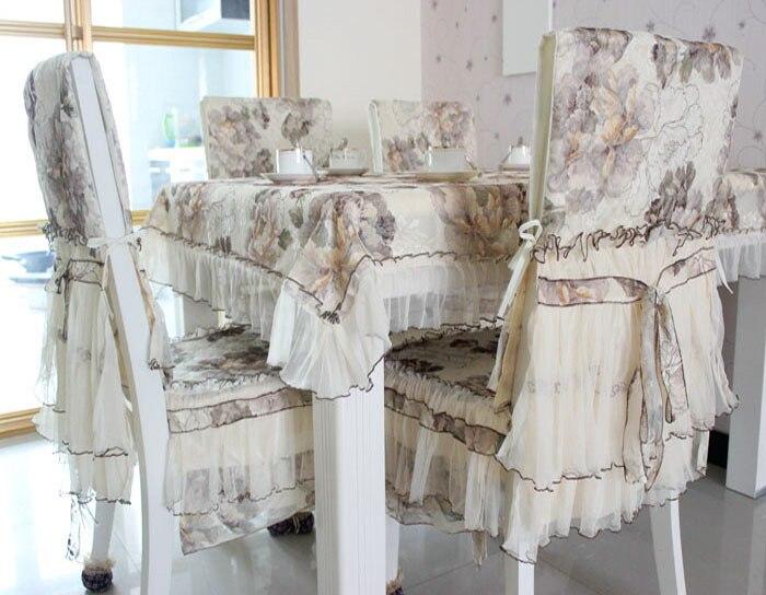 HBZ16 palácio flor tampa de tabela toalha de mesa pano tecido de Renda pastoral floral retângulo squre ouro amarelo gaze perfurado