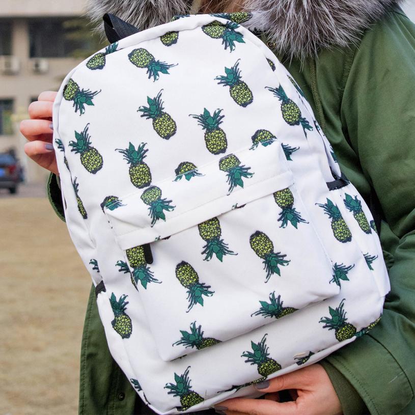 Maison рюкзаки новый высококачественный нейлон свежий Стиль Для женщин с принтом ананаса Bookbags женский рюкзак путешествия Для женщин 2018MA4
