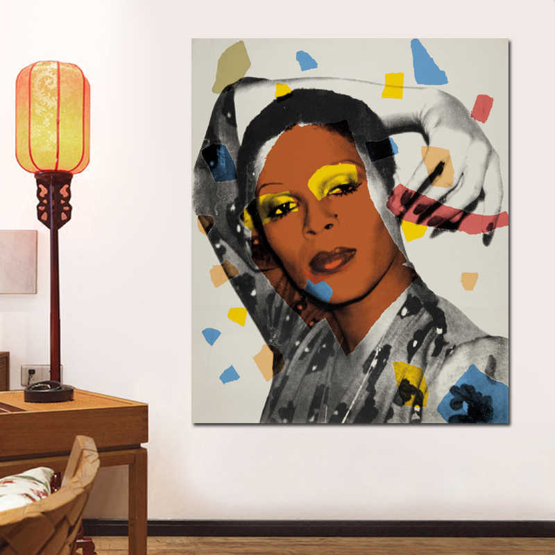 a02b34df7dbfd Colorful Sexy Woman By Andy Warhol Canvas Painting Portrait Wall Art  Pictures For Living Room Cuadros