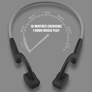 Image 4 - سماعات بلوتوث 5.0 S. Wear لاسلكية التوصيل العظام سماعة الرياضة في الهواء الطلق سماعة مع ميكروفون سماعات يدوي