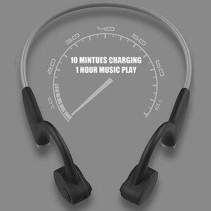Image 4 - Bluetooth 5.0 S. ללבוש אלחוטי אוזניות הולכה עצם אוזניות חיצוני ספורט אוזניות עם מיקרופון דיבורית אוזניות