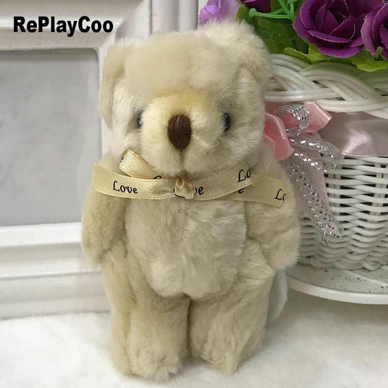 12 шт. плюшевого мишки плюшевые игрушки Tedy медведь 13 см мягкие игрушки для детей каваи плюшевые игрушки Совместное Teddy Bear мягкая Животные подарки J08701