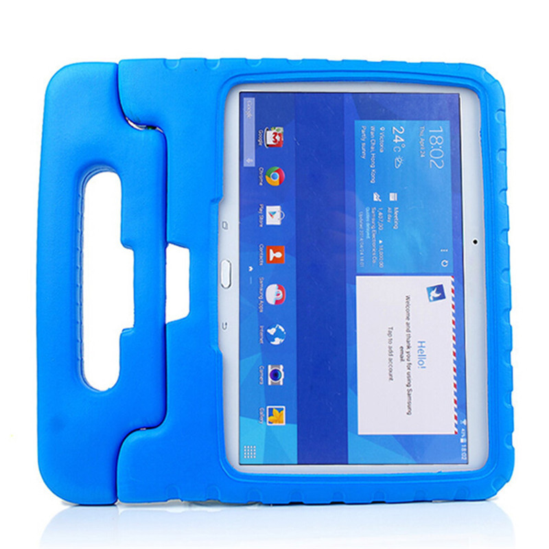 Foam EVA Shock Proof Durable Kids Children Handle Stand Back Cover Case For Samsung Galaxy Tab 4 10.1 T530 Shell for samsung galaxy tab 4 10 1 t530 case tab 3 10 1 inch p5200 tablet kids foam back case handle stand cover shockproof