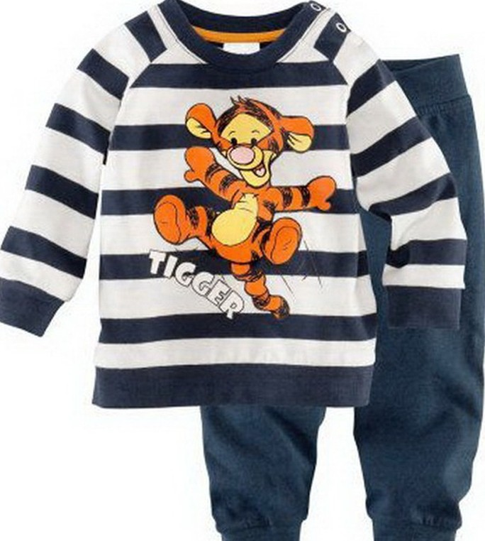 2017 New Hot Minnie Cartoon Mouse Children Baby Boys Girl Kids Homewear Sleepwear Pajamas Set Clothes Outfits Free Shipping