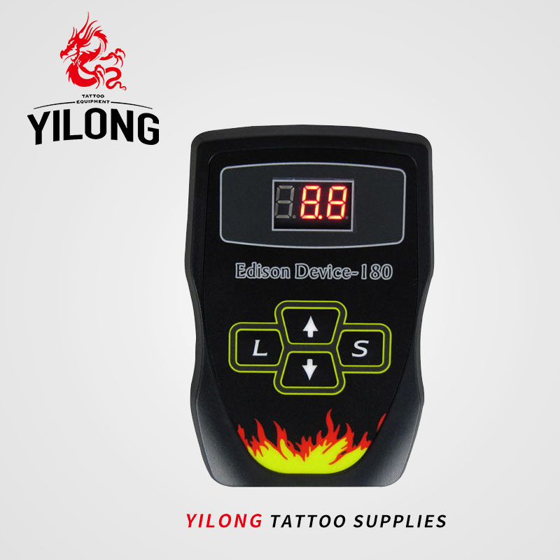 YILONG Free Shipping Wholesale Black New Black Duty Digital LCD Tattoo Power Supply For Machine Gun Device tattoo & body art