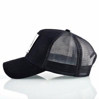 Fashion Snapback Trucker Hat For Men Summer Breathable Mesh Baseball Cap Women Wolf Embroidery Hip Hop Casquette Boys Kpop Bone 2