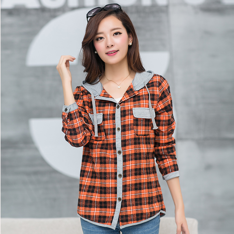 Compare Prices On Orange Plaid Shirt Online Shopping Buy