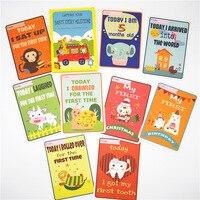 Momentos Do Bebê Cartões de Marco-32 cartões-Presente Perfeito para o Presente Do Chuveiro de Bebê Dos Desenhos Animados Álbum de fotos Do Bebê e Do Bebê apresenta