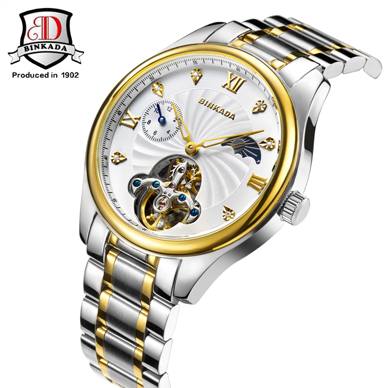 cf6b1c484f5 2017 Homens Auto Mecânica Winding Assista Homens Luxo Marca de Relógios  Genuínos de Couro Relógio Relógio Automático Dos Homens Relógios Relogio  masculino