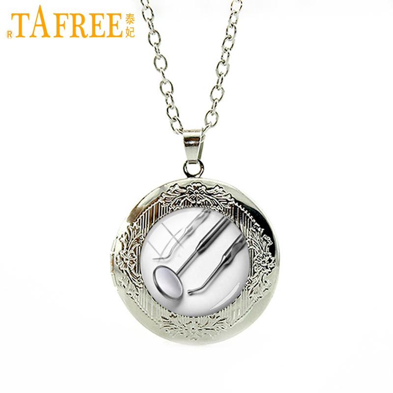 TAFREE Fashion modern Dentist medical equipment pendant personalized Oral hygienist locket necklace doctor jewelry gift HH237 ...