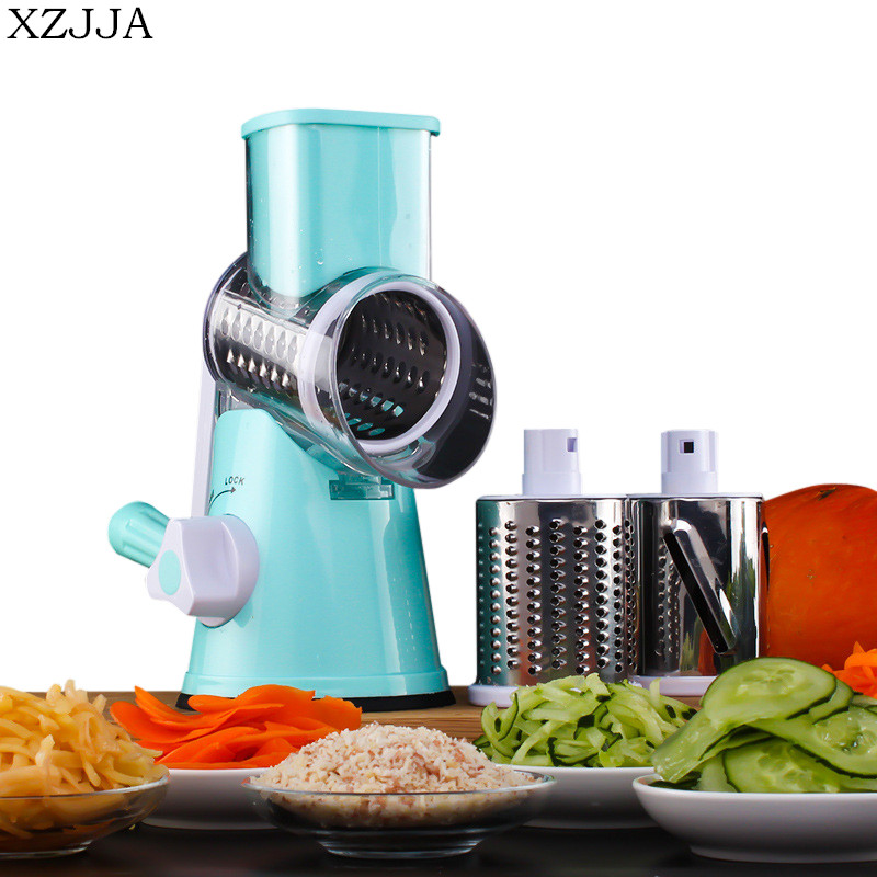 XZJJA High Quality Creative Manual Drum Vegetable Slicer Cheese Grater Multifunctional Potato Carrot Cutter Kitchen Tool