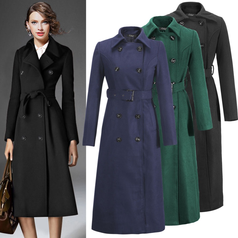 Ladies Long Length Wool Coats - Coat Nj