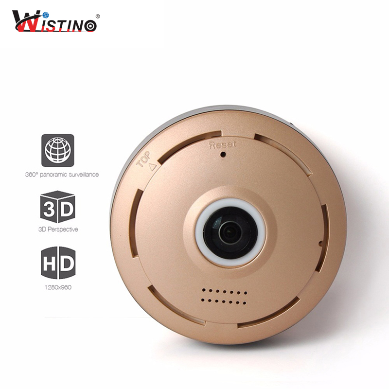 Wistino CCTV 960P HD WIFI Camera Smart Home Baby Monitor Fisheye Wireless Mini Security Camera P2P Full View Surveillance Alarm