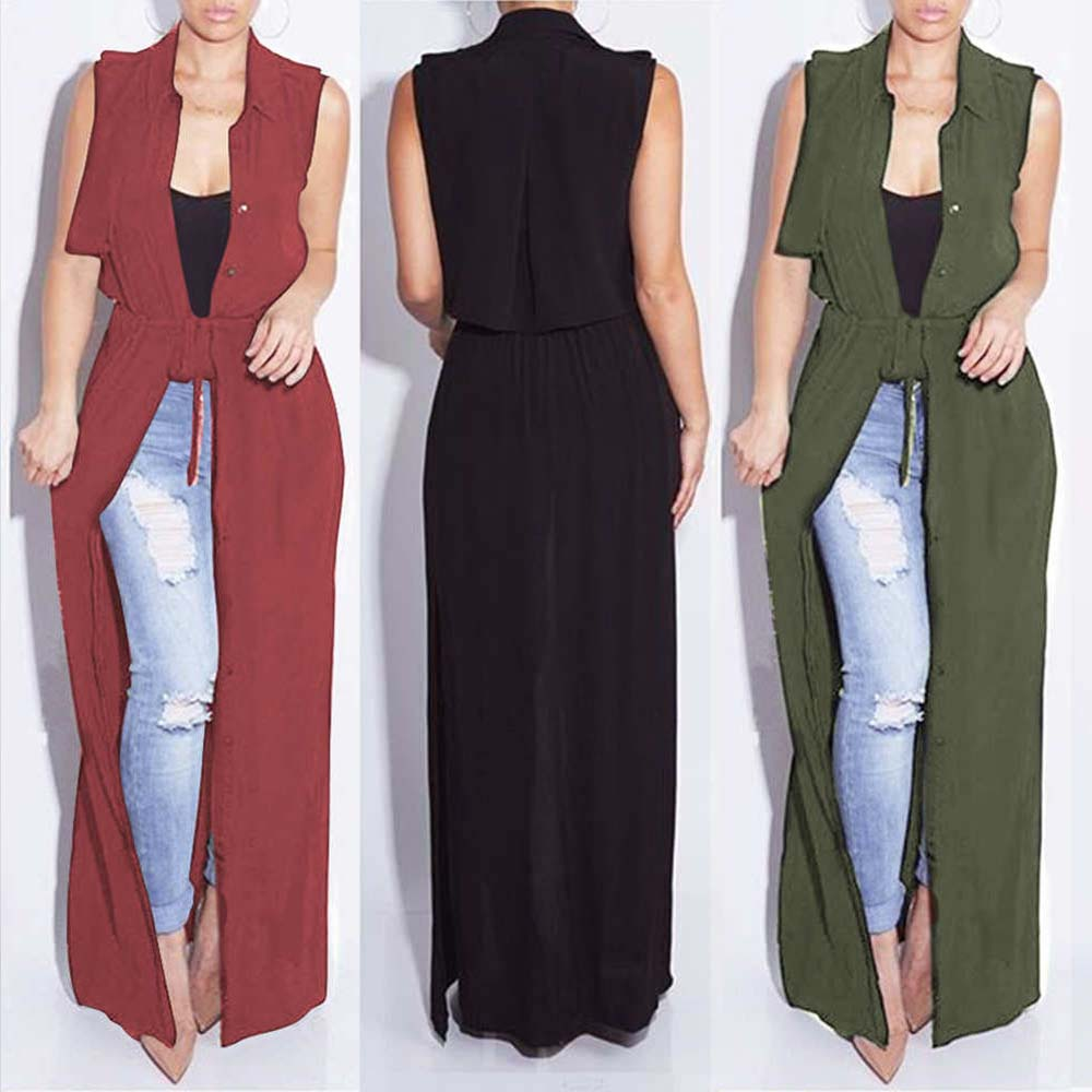 New Summer Fashion Women Sexy Sheer Long Maxi Shirt Dress Sexy Split Chiffon Dress Evening Party