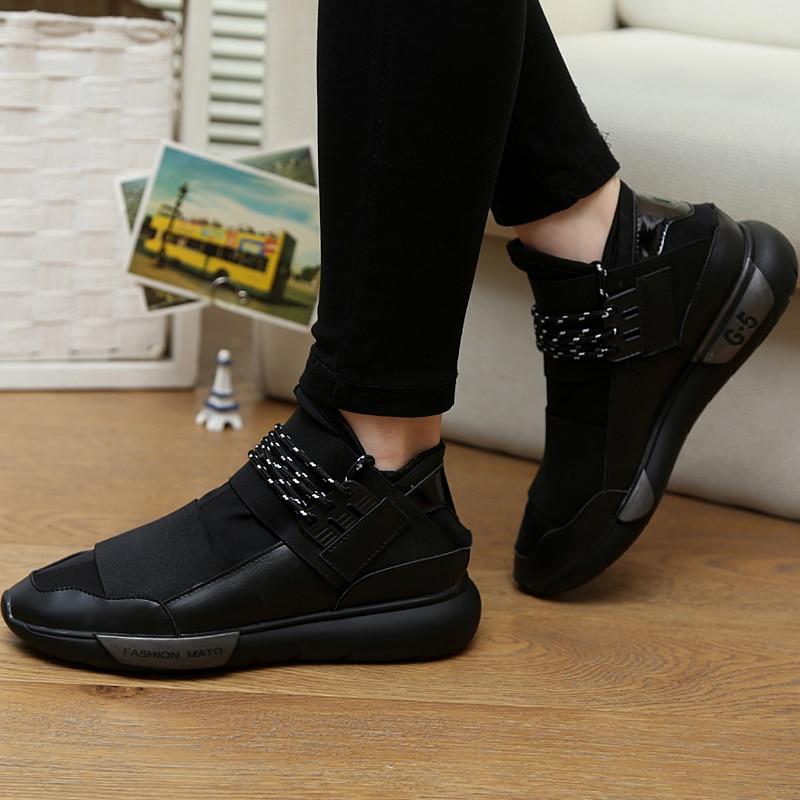 Dkxl Classic Leisure Shoes Lace Up Unique Design Style Men Casual Shoe Unisex Height Increasing