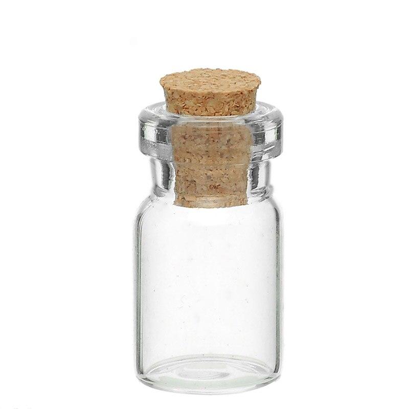 20 Pcs Tie Plug pequena garrafa de vidro jóias frasco de Perfume poção Jar Container Display vidro 24 x 10 mm