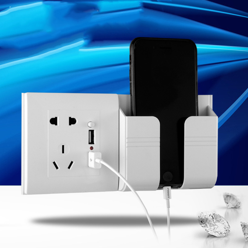 Dual USB wall socket DC 5V 2.1A Home Wall Charger  Adapter Socket With bracket