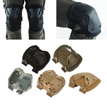 5Color Airsoft Tactical Adjustable Knee & Elbow Protective Pads Set Protective Gear Sports Hunting Shooting Pads