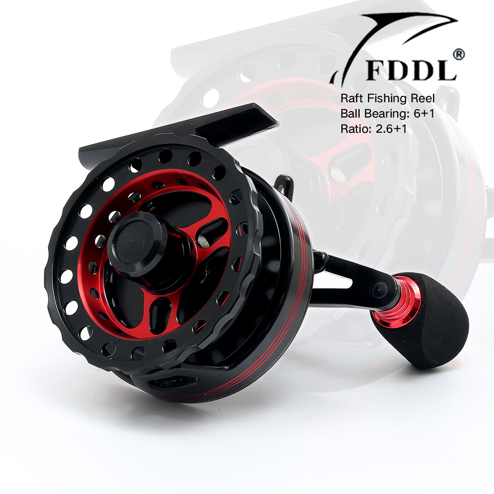 6+1BB All Metal Fly Fish Reels Former Rafting Ice Fishing Reel Vessel Wheel Fishing Gear Left/Right Hand for Choose