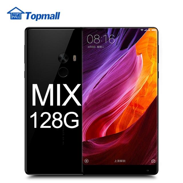 """Оригинал Xiaomi Mi Смесь Мобильного Телефона 4 ГБ RAM 128 ГБ ROM Snapdragon 821 6.4 """"2040x1080 P Edgeless FHD Дисплей Полная Керамики Тела"""
