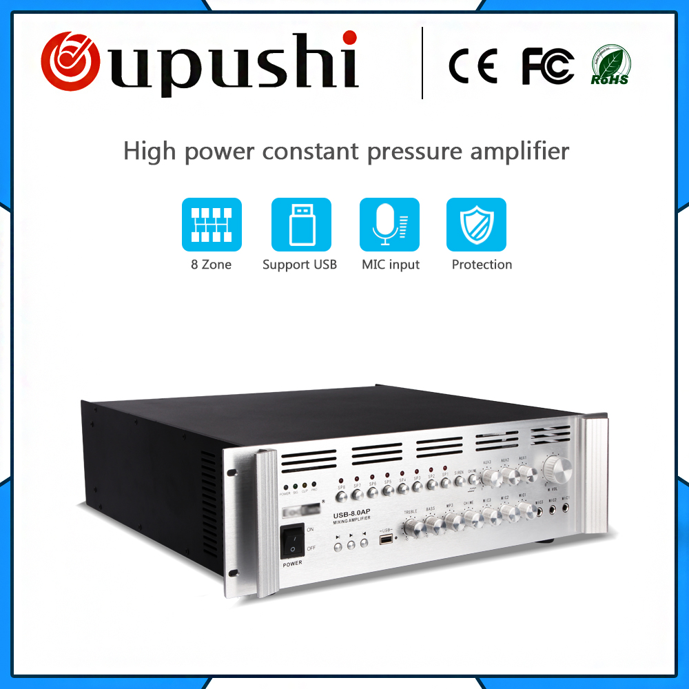 USB-8.0AP 8 zone 800 w tuner amplificateur à mural haut-parleur amplificateur spécial oupushi