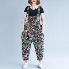 Korean Women Letter Print Jeans Jumpsuit Ladies Hip Hop Denim Romper Overalls Summer Harem pants Wide Leg Denim Pants Female boys letter print romper with pants