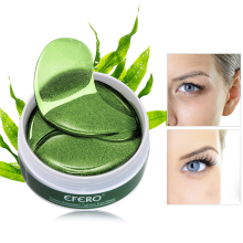 EFERO 60pcs Green Collagen Crystal Eye Mask Face Care Patch Bag Removal Dark Circles Moisturizing Sleeping