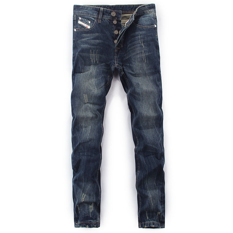 2019 High Quality Dsel Brand Men Jeans Fashion Designer Distressed Ripped Jeans Men Straight Fit Jeans Homme,100% Cotton,777-B