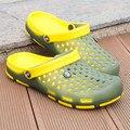 Hombres Zuecos Zapatillas de Playa de verano Para Los Hombres de La Jalea Zapatos Del Jardín mula Zuecos Zuecos de Moda de Color Amarillo Blanco Rojo Adulto EVA materiales