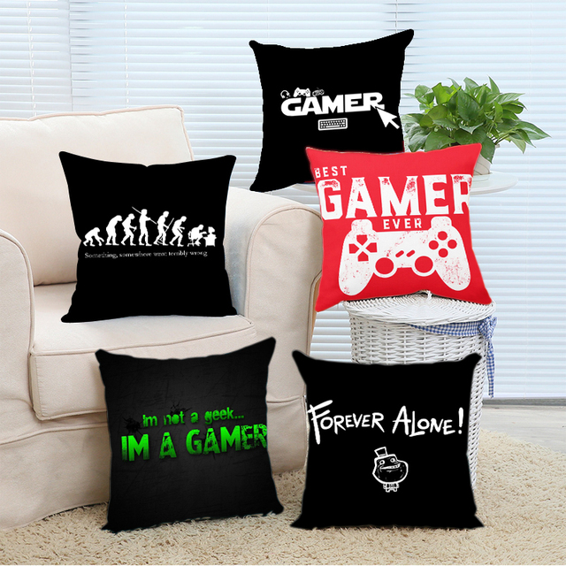 Babaite Funny Gamer Ever for Video Games Geek Custom Printed Christmas Soft  Fashion Throw Pillow Covers 2 Sides Print ec212f988