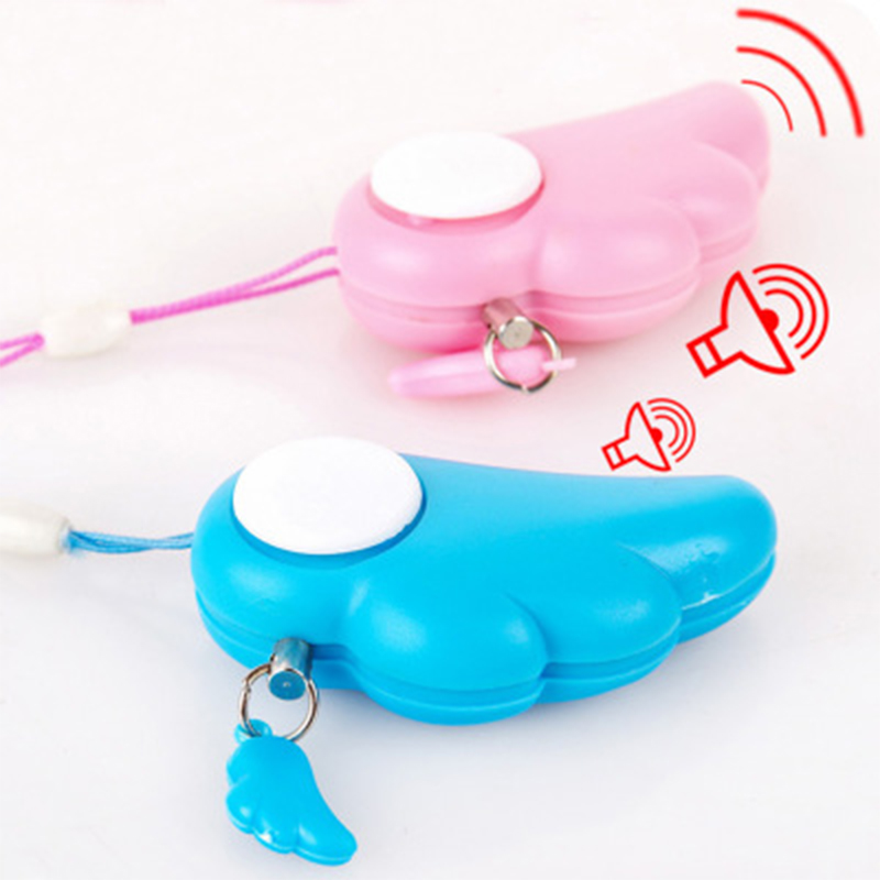 Women Girl Personal Alarm Woman Baby Anti-Self Portable Defense Safety 90DB Keychain Alarm Sexual harassment Call for help ...