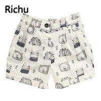 Richu 2017 брендовая Летняя Детская Пляж Спортивные Шорты мужской Штаны мальчиков Шорты Штаны детские штаны-шаровары для малышей