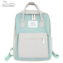 680cd77bdc08 Япония модные женские туфли рюкзак Водонепроницаемый холст рюкзак  путешествия женская для девочек-подростков сумка рюкза.