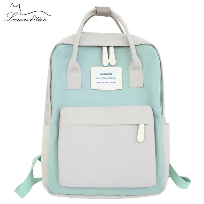 31634a9ff5 2019 Japan Fashion Women Backpack Waterproof Canvas Travel Backpack Female Teenagers  Girls Shoulder Bag Bagpack Female