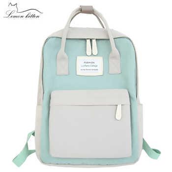 Fashion Women Backpack Waterproof Canvas Travel Backpack Female School Bag For Teenagers Girl Shoulder Bag Bagpack Rucksack 2019 - DISCOUNT ITEM  50 OFF Luggage & Bags