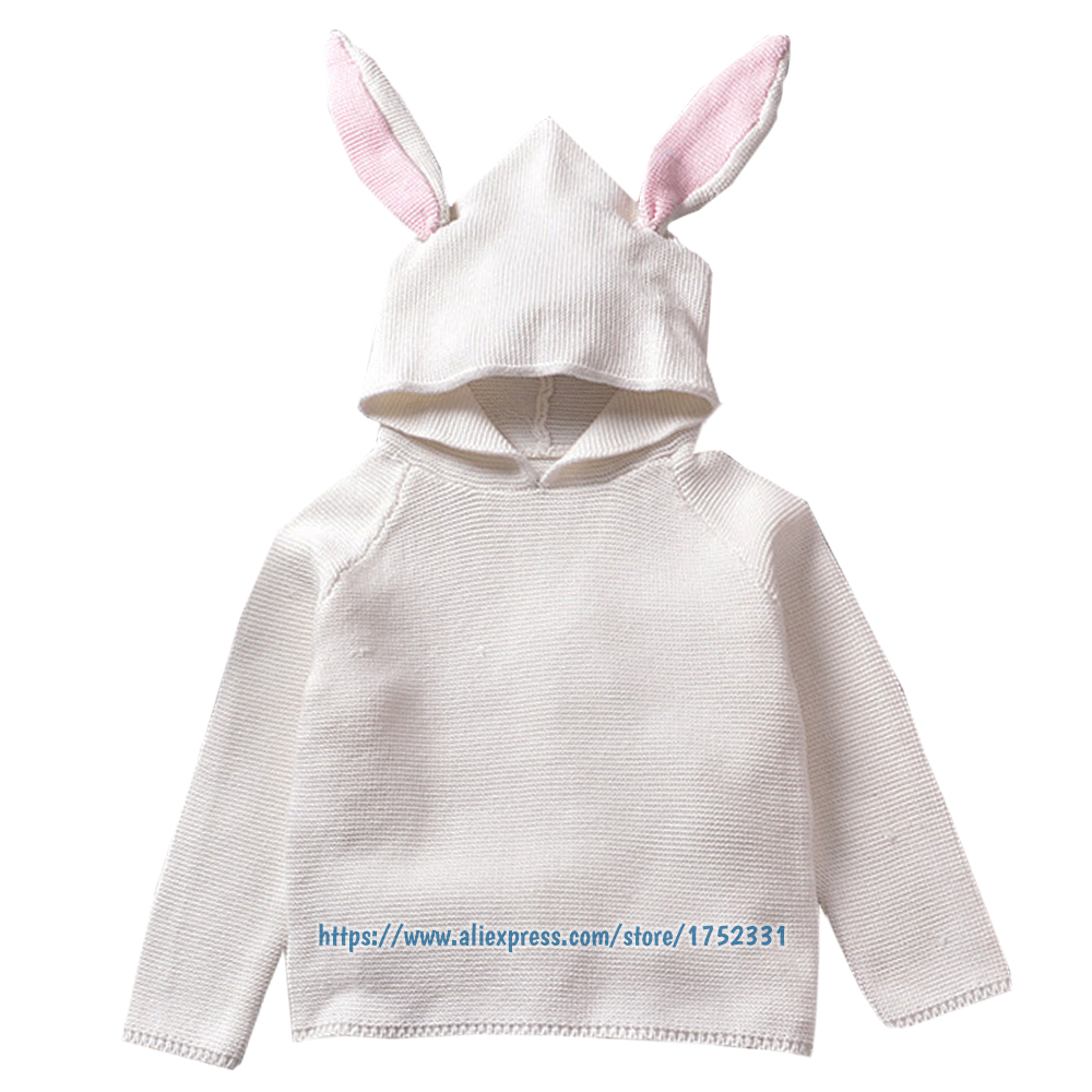QUIKGROW-Quality-Textured-Cotton-Warm-Knitwear-Baby-Boy-Girl-Long-Sleeve-Sweater-Cute-Bunny-Rabbit-Hooded-Outwear-Tops-YM26MY-2