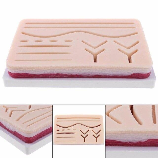 3 שכבה תפר כרית בפועל רפואי כירורגי תפר אימון ערכת דה תפר עיסוק ההדרכה Pad סט