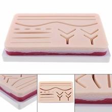 Kit de treinamento de sutura de prática de sutura de 3 camadas almofada de prática de sutura médica conjunto